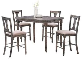 rustic kitchen table sets. demi 5-piece dining table set, smoked gray rustic-dining-sets rustic kitchen sets