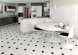 Captivating Rummy Black Tiles Along With Glossy Kitchen Design In Black And White Floor  Tile