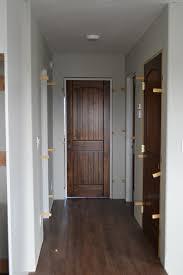 staining interior doors ana white