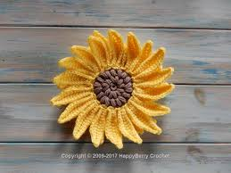 Crochet Sunflower Pattern Stunning Crochet Sunflower HappyBerry