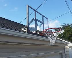 spalding wall mounted basketball goal basketball hoop over garage37