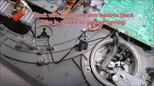 audio technica at lp ered rca cables to tone arm wiring audio technica at lp120 ered rca cables to tone arm wiring