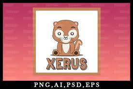 Cute Kawaii Xerus Animal Clipart V31 Graphic By Zerobbat Creative Fabrica