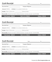 receipt layout printable cash receipt for ms word office templates online