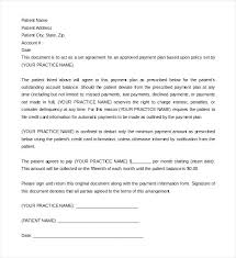 Installment Payment Plan Letter Agreement To Pay Employee Payback ...