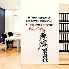 street art wall decals with vinyl wall decal street art graffiti politics lie wall sticker art home living room wall decals custom canada nbb on custom vinyl wall art canada with street art wall decals with vinyl wall decal street art graffiti