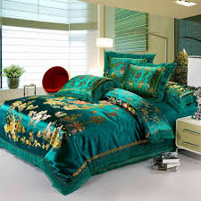 Luxury Green Bedding Set Dragon And Phoenix Silk/Cotton Duvet ... & Luxury Green Bedding Set Dragon And Phoenix Silk/Cotton Duvet Cover Set  Flat Sheet Bed Quilt Linen King Queen Size Bedspreads Sets Solid Duvet  Covers From ... Adamdwight.com