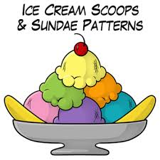 ice cream sundae with sprinkles clipart. Modren Sprinkles ICE CREAM SCOOPS AND SUNDAE PATTERNS  TeachersPayTeacherscom For Ice Cream Sundae With Sprinkles Clipart T