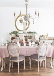 french country fall dining room with purple and green so much better with age