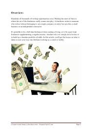 steps to make money as lance writer lance writer created by businesstips247 com pdf file for 2