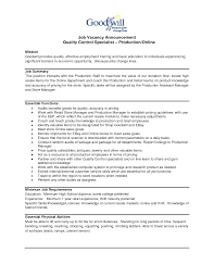 Resume Quality Control Inspector Resume Sample