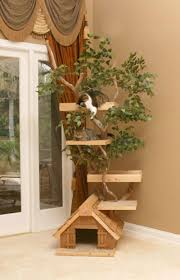 wood cat tree  gardens and landscapings decoration