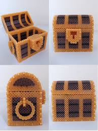 17 best images about 3d perler bead designs perler great hama bead treasure box by miomio5 could easily adapt this to make a minecraft