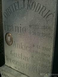 grave site of dr drago ivančević 1897 1966 billiongraves headstone image of dr drago ivančević