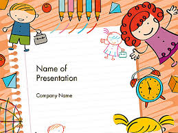 Kids Powerpoint Background Kids And Toys Drawing Style Background Powerpoint Template