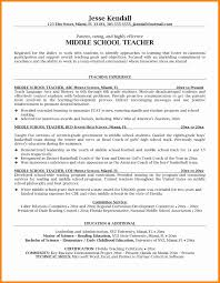5 Middle School Teacher Resume Examples Job Resumed