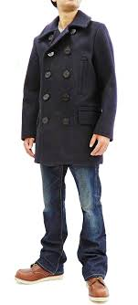 Usn Pea Coat Size Chart Buzz Ricksons Pea Coat Mens U S Navy Wool Above Knee
