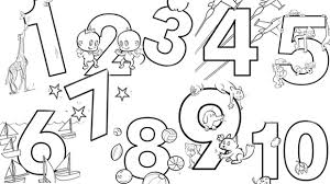 Small Picture Numbers Coloring Pages GetColoringPagescom