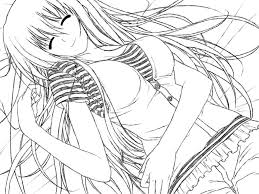 anime fallen angel coloring pages