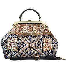 carpet handbag. image of esculap treillage navy victorian carpet bag. handbag i