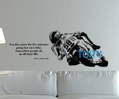 marco simoncelli quote wall art giant sticker mural motorcycle racer decal motorbike sport poster boy room on motorbike wall art australia with marco simoncelli quote wall art giant sticker mural motorcycle racer