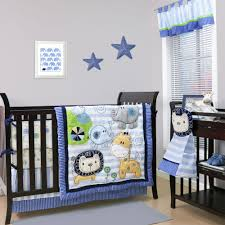 belle baby crib bedding set blue jungle theme baby sketches 4 piece set com