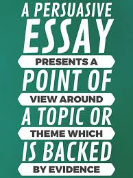 How To Write Perfect Persuasive Essays Literacy Ideas