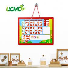 Weekly Star Chart Cartoon Wall Calendar Magnetic Fridge Sticker Children