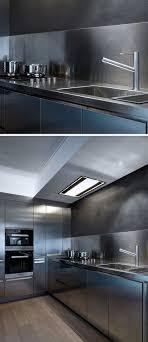 Steel Backsplash Kitchen 17 Best Ideas About Contemporary Stainless Steel Kitchens On