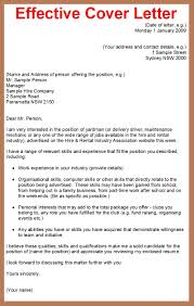 Effective Cover Letters For Jobs Letter Idea 2018