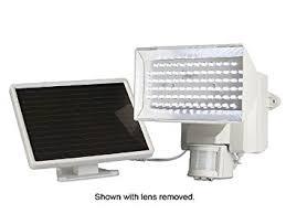 GreenLighting 120Degree Black Solar PIR Motion Sensor Outdoor Solar Security Flood Light