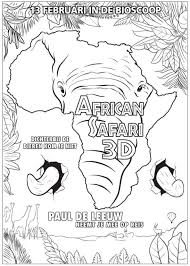 African Safari 3d Kleurplaat Jouwkleurplaten