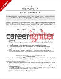 Administrative Assistant Resume Sample Career Igniter