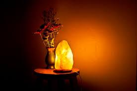 himalayan glow salt crystal lamp