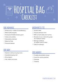 What To Pack For Your Hospital Delivery Bag Free Checklist