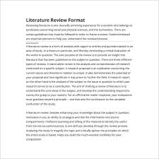 Literature Review Template Word   Ex SlidePlayer