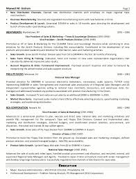 Sample Resume For Marketing Executive Position