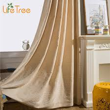 square embroidered linen curtains for bedroom modern living room voile curtain window screen custom made in curtains from home garden on aliexpress com