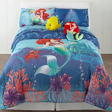 image of little mermaid twin bedding blue
