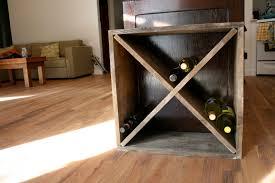 how to build a diamond shaped wine rack