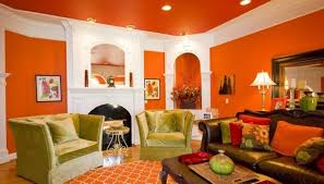 Warm Colors Living Room Magnificent Warm Color Wall Paint And Brown Shades Sofa Design