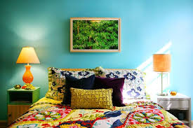 Marvelous Bedroom With Colorful Stripes