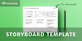 Free Storyboard Templates Interesting Free Storyboard Template Download The Advertising Bible