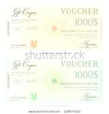 Christmas Certificates Templates For Word Stunning Money Voucher Template Voucher Template With Pattern Watermarks And