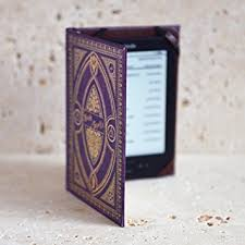 harry potter themed book of spells kindle cover purple spells
