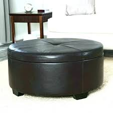 round leather ottoman awesome round leather ottoman coffee table for round leather ottoman decor pottery barn