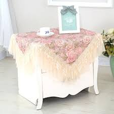 nightstand tablecloth idyllic style multi use lace small nightstand cover towel table cloth washing round nightstand