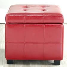 decoration simpli home avalon coffee table storage ottoman with 4 serving trays red tufted