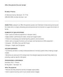 Dental Receptionist Resume Objective receptionist resume objective zippappco 35