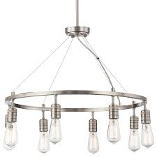 downtown edison 8 light chandelier